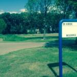 Ingang van Bungalowpark de Kreek